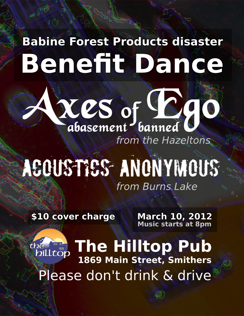 Burns Lake benefit poster